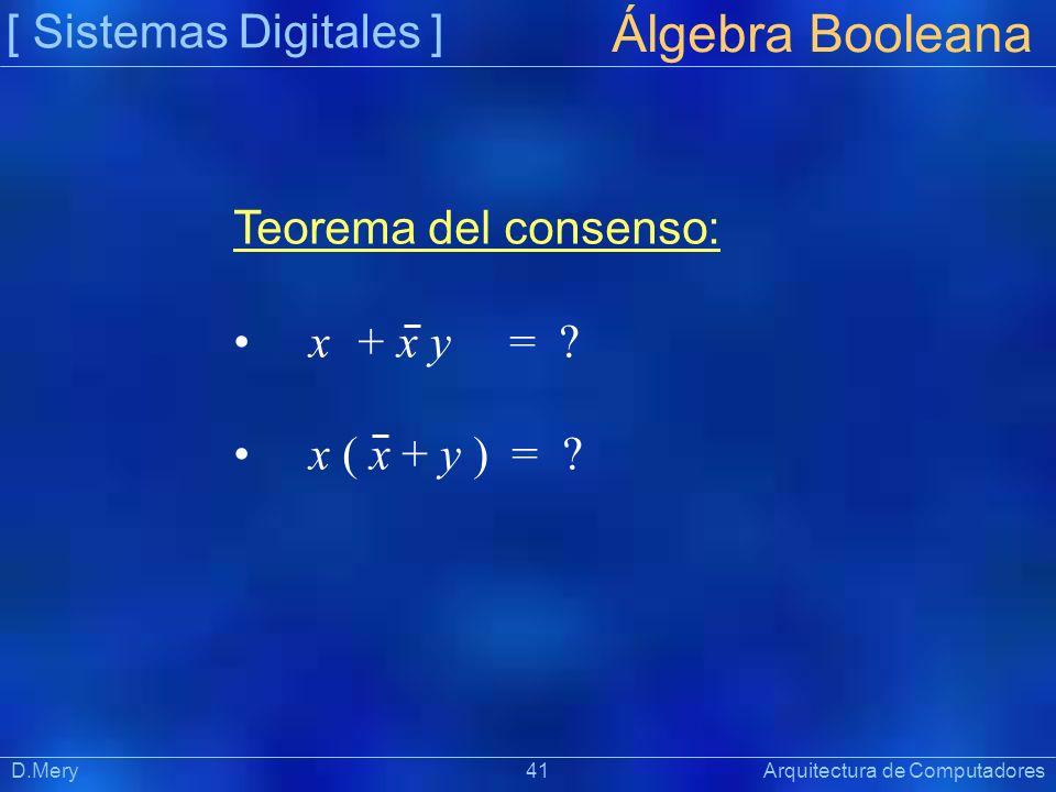 Álgebra Booleana [ Sistemas Digitales ] Teorema del consenso: